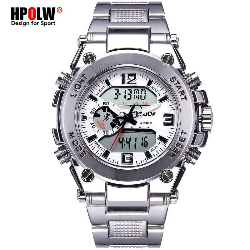 HPOLW Brand Military Sports Watches Men Electronic LED Digit