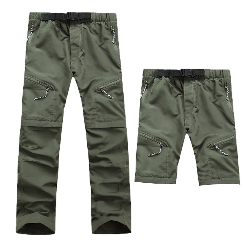 2018 New Men's Quick Dry Removable Hiking Pants Outdoor Sport Summer Breathable Thousers Camping Trekking Fishing Shorts XNC