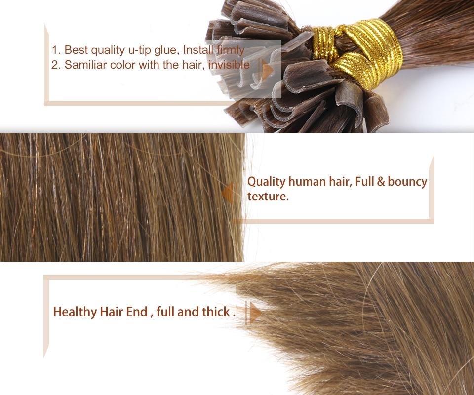 Addbeauty Brazilian Straight Keratin Human Fusion Hair Nail U Tip 100 Remy Extensions Dark Brown Color 1g S 50g Set Aliexpress