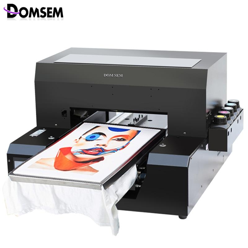 US $3165 2 18% OFF|DOMSEM Tshirt T shirt Cloth T shirt Printer UV inkjet A3  Size Digital Custom DIY Garment Printing Machine 2880dpi free with ink-in