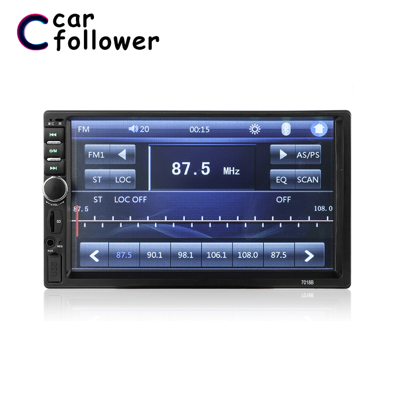 <font><b>Radio</b></font> <font><b>Car</b></font> 2 Din MP5 Player 7 Inch Touch Screen <font><b>2Din</b></font> Autoradio With Rearview Camera Bluetooth FM AUX USB Mirror Link For Phone image