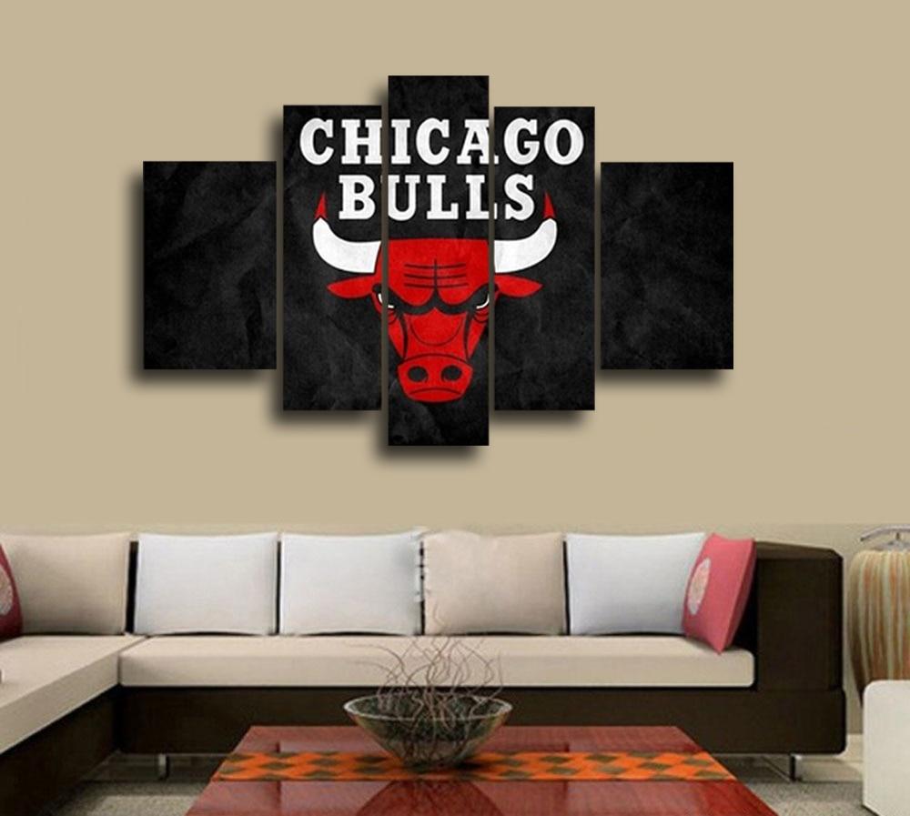 popular chicago bulls room decor-buy cheap chicago bulls room