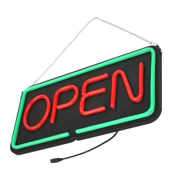 OPEN LED Neon Sign Light Hanging Bar Party Store Visual Artwork Lamp Decoration Commercial Lighting Neon Light Board 50X25cm