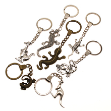 Gecko Lizard And Dinosaur Mix Animal Key Chain Charms For Diy Handmade Gifts