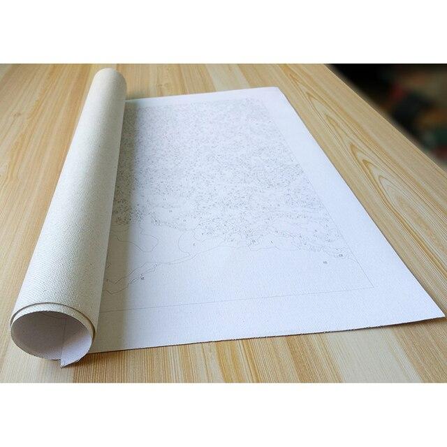 RUOPOTY-cadre peinture de paysage | Kit de peinture de paysage de neige avec numéros, peinture acrylique sur toile, peinture calligraphie, cadeau Unique pour décoration de maison