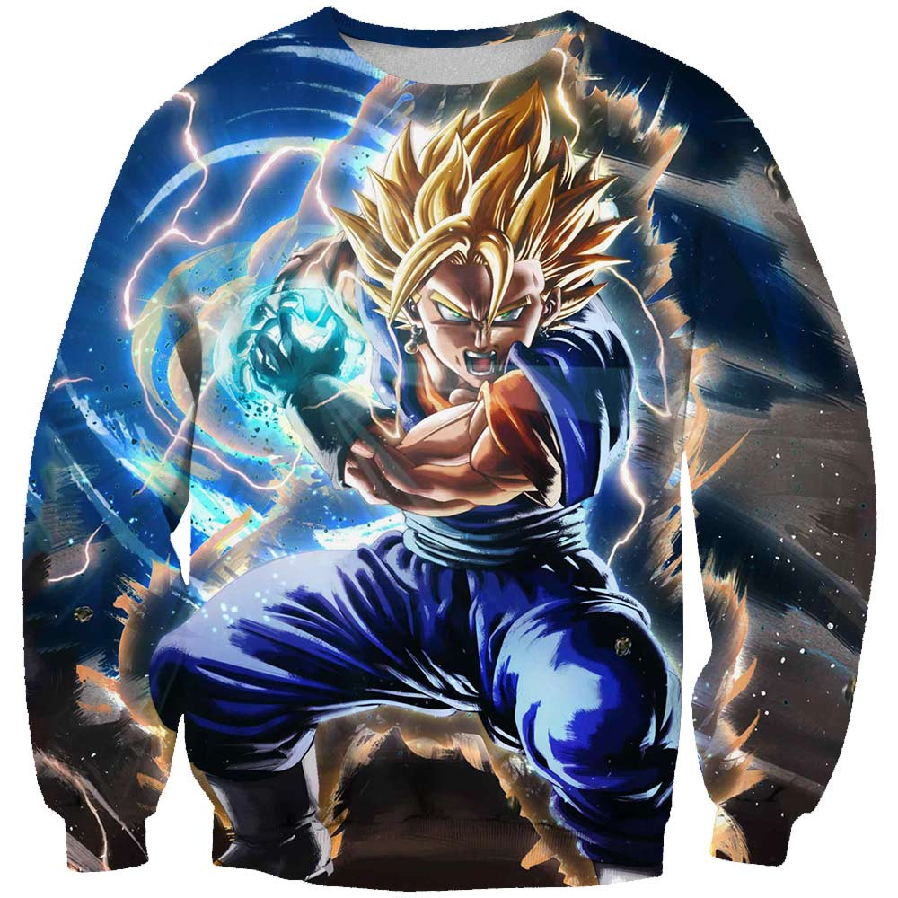 2019 Spring One Piece Dragon ball Challenge the limit Sweatshirt 3D Print Pullover Sweatshirt Monkey D Luffy Ace