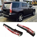 Car Styling 2015 2016 2017 LED Tail Lights Rear Lamp Brake For Chevrolet Tahoe/Suburban Modify Custom (Cadillac Style) Red Clear