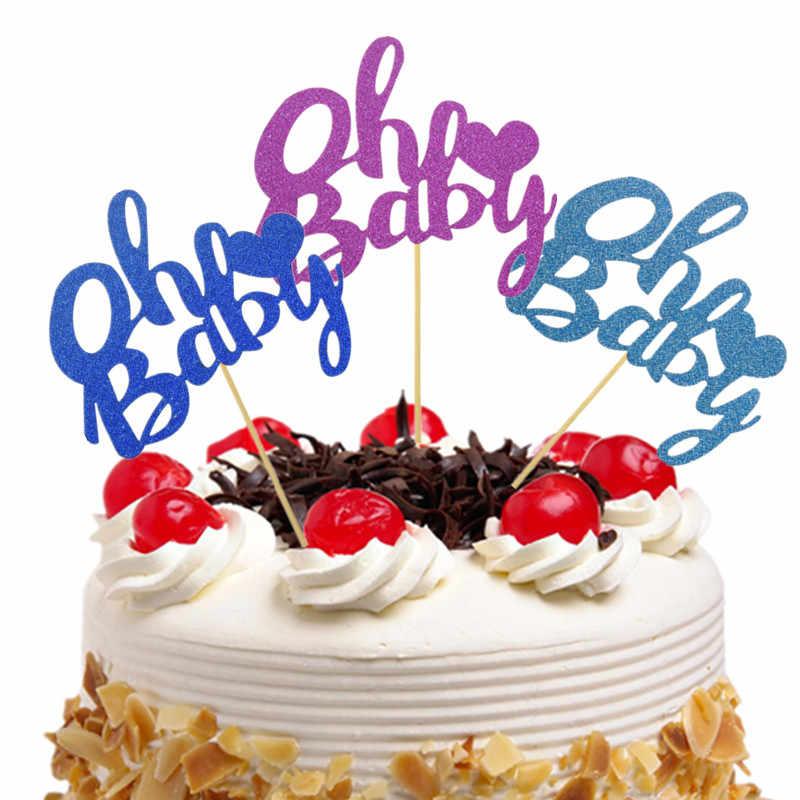 Bánh Cờ OH Bé Lấp Lánh Cupcake Nước quai Trang Trí đồ Trẻ Em Bé Trai Bé Gái Sinh Nhật Bánh Cưới Bọc Đảng Cho Bé Làm Bánh DIY xmas| | - AliExpress