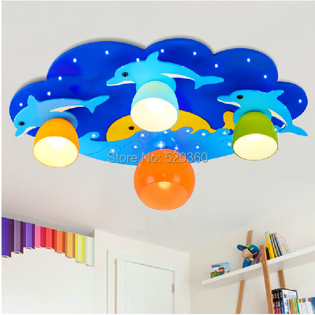 Novelty bule and pink dolphin in the ocean ceiling light prince novelty bule and pink dolphin in the ocean ceiling light prince and princess ceiling lamp mozeypictures Images