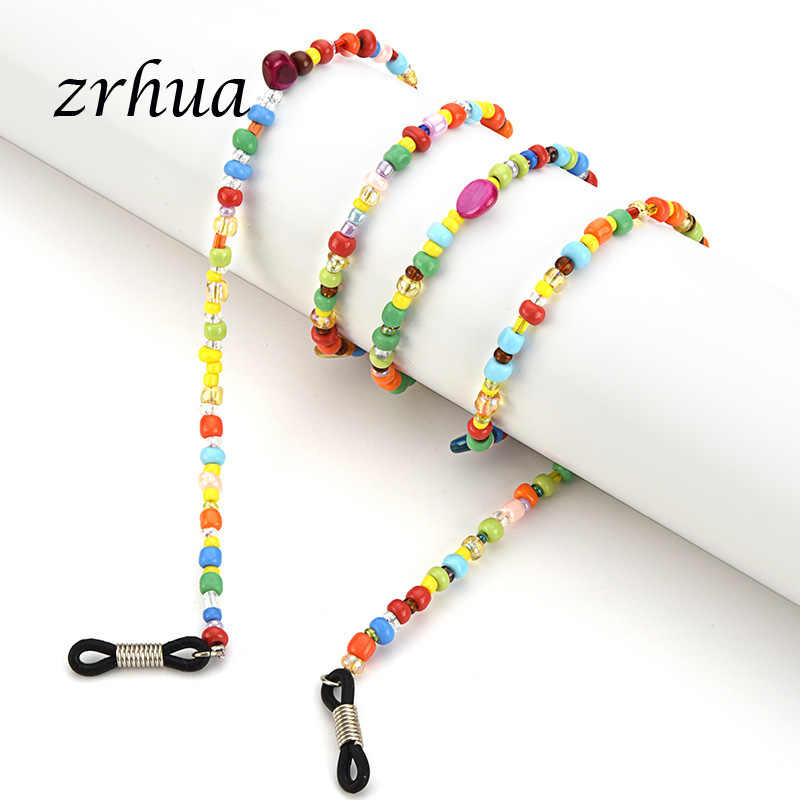 ZRHUA Fashion Reading Glasses Chain for Women Metal Sunglasses Cords Beaded Eyeglass Lanyard Hold Straps Gold silver Eyewear Hot