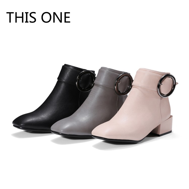 Hot sell new 2018 Brand Fashion Ankle Boots Women Autumn Winter Warm Genuine Leather Snow Boots Woman Elegant Shoes