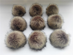 Image 2 - Wholesale 10pcs /lot Crinkle Resistant Faux Fur Pom pom For knitted Beanies Caps Hats Bags Key chain Garments Accessories Gift