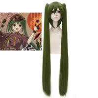 High Quality Anime Vocaloid Senbonzakura Hatsune Miku 120cm Long Wigs Military Army Hair Cosplay Costume Wig