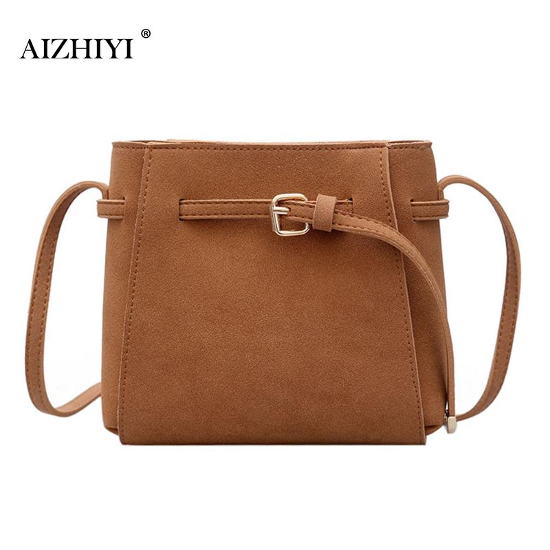 Women Casual Scrub PU Leather Messenger Bags Tote Buckets Large Capacity Vintage Fashion Women's Crossbody Bag Shoulder Handbags large leather vintage tote bags women