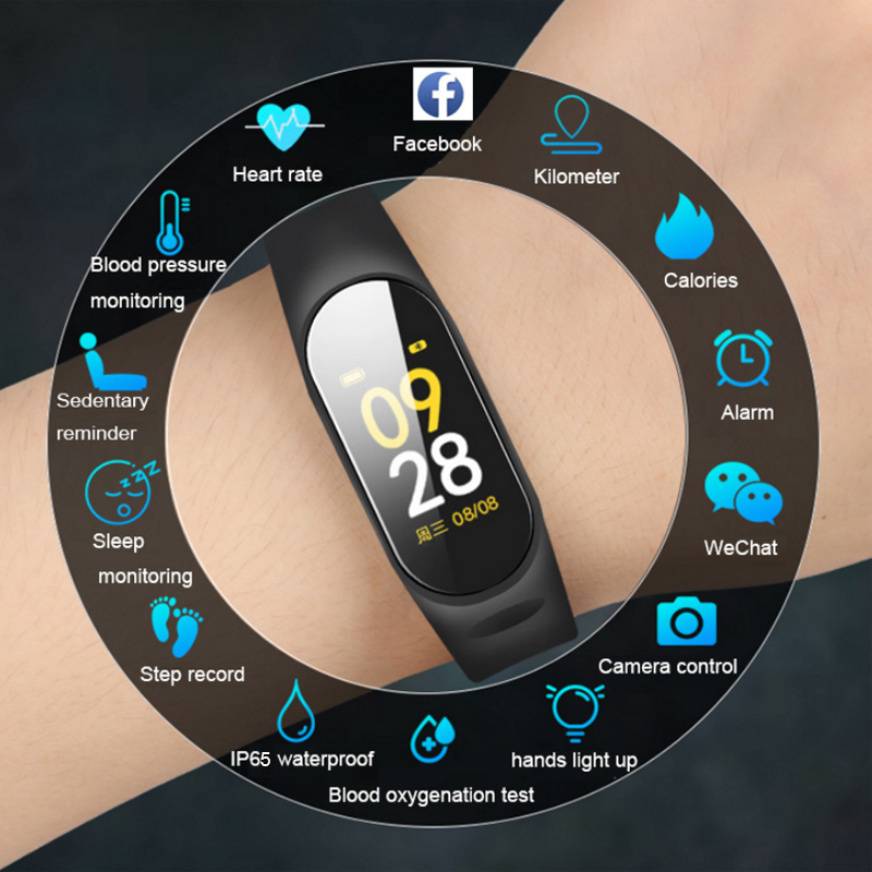 2019 Smart Watch Men Women Heart Rate Monitor Blood Pressure Fitness Tracker Smartwatch Sport Smart Clock Band For IOS Android ゲーム ポート ピン
