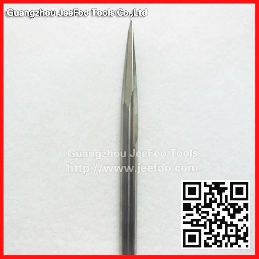 D6 * R1.0-45H-80L-8-kraadine koonusprindiga kuulveski puitmaterjali / puugravüüri graveerimiseks