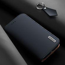 Роскошный чехол из натуральной кожи для Samsung Galaxy S8 S9 Plus S10 S10E Note 8 9, кошелек с откидной крышкой и отделением для карт, магнитный чехол бампер