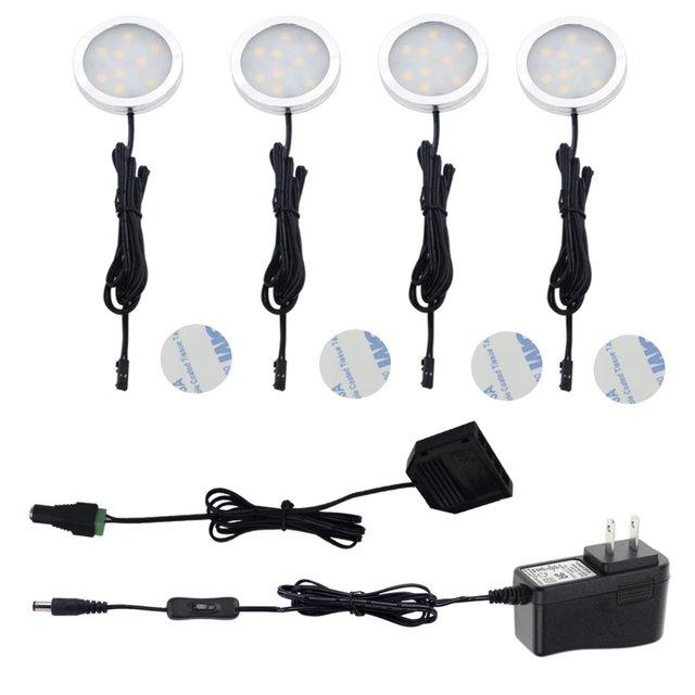 Aiboo LED Unter Kabinett Puck Lichter mit 2 weg Schalter 4 Lampen 12 ...
