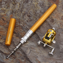 Mini Portable Pocket Fish Pen Aluminum Alloy Fishing Rod Pole Reel Combos Lightweight Ice Fishing Rods New Promotion