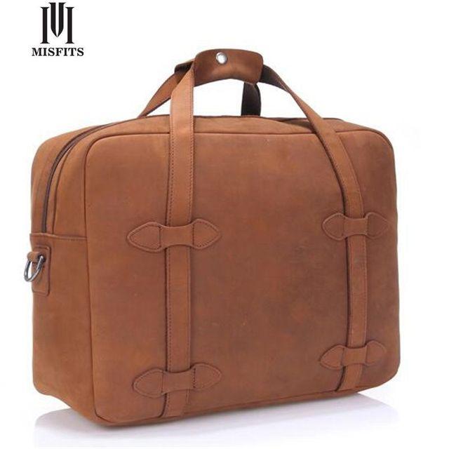 Misfits véritable en cuir hommes voyage sacs