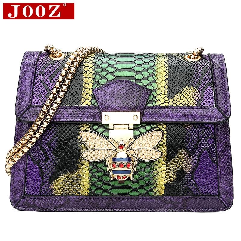 9a1a368ea91c JOOZ дизайнерские сумки высокого качества женские кожаные сумки под змеиную  кожу женские сумки на плечо вечерние