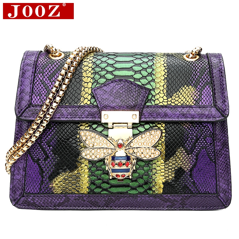 JOOZ Designer Handbags High Quality Woman Leather Handbags Serpentine Women Shoulder Bags For Women Party Evening Clutch Purse