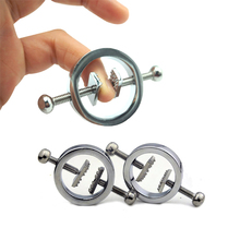 Female Nipple Clips Stainless Steel Adjustable Torture play Clamps Metal Breast Clamps SM Bondage Restraint Fetish Sex Toy Adult bust adjustable stainless steel fetish wear breast clamp metal clip nipples clamps bdsm bondage sex toys products for adults