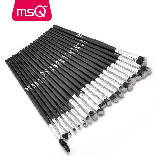 MSQ Professional 20Pcs/Sets Eye Shadow Foundation Eyebrow Lip Brush Makeup Brushes Cosmetic Tool Make Up Eye Brushes Set 3