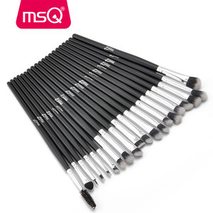Image 4 - MSQ profesyonel 20 makyaj fırçası setleri göz farı kirpik kaş dudak kozmetik aracı makyaj gözler detay fırça seti