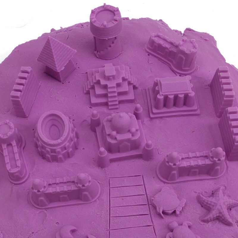 6pcs Kids DIY Construction Toys Mini Ancient Building Sand Castle Mold Tools Beach Toys for Children Plastic Model Building Kits