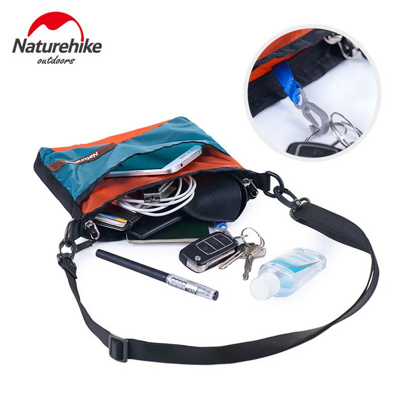 Naturehike ultralight men travel bags women messenger bags 20D silicon waterproof backpack 68g Outdoor Portable Shoulder bag