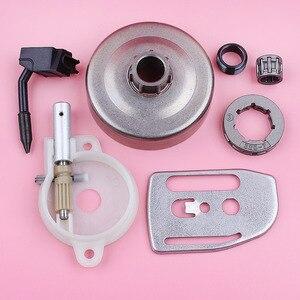 Image 1 - Llanta de rueda dentada para Husqvarna 36 41 136 137 141 142, bomba de aceite, engranaje helicoidal, placa de barra, motosierra, repuesto de pieza de repuesto