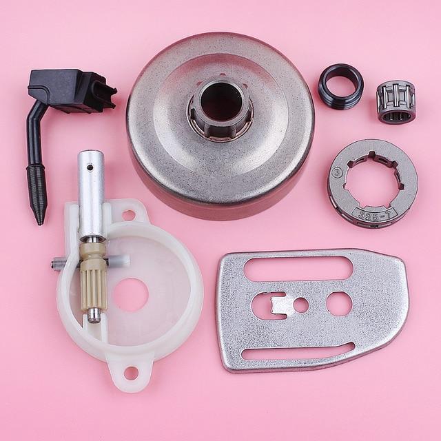 Llanta de rueda dentada para Husqvarna 36 41 136 137 141 142, bomba de aceite, engranaje helicoidal, placa de barra, motosierra, repuesto de pieza de repuesto