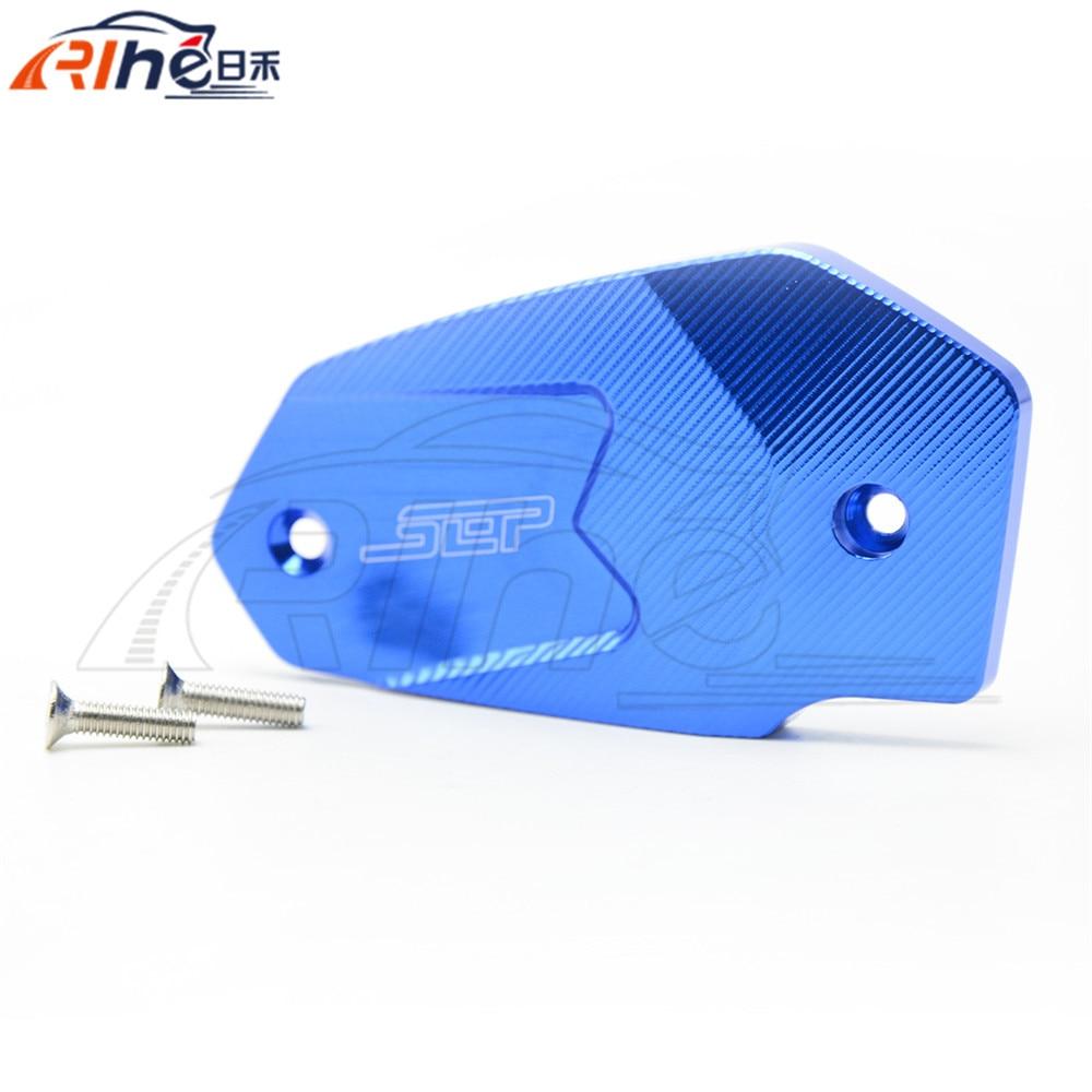 ФОТО new 7 colors optional wholesale motorcycle accessories cnc aluminum brake pump olpidium cover blue color for kawasaki z800