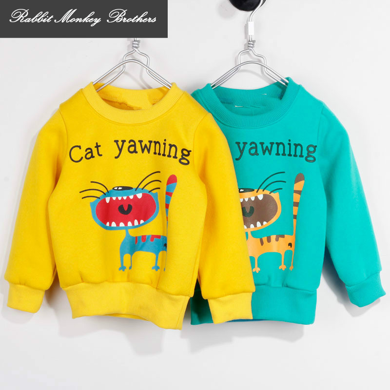 RMBkids spring and Autumn Children Cashmere sweater boys girls cartoon long sleeve casual fleece Sweater outerwear Special offer