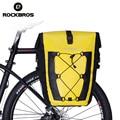 Велосипедная сумка ROCKBROS  водонепроницаемая велосипедная задняя стойка  сумка для заднего сиденья  сумка для багажника  27 л  большая корзина ...