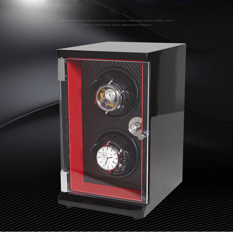 Luxury 2 Grid Mechanical Watch Winder Solid Wood Automatic Watches Winder Multi-function 5 Modes High Quality Watch Winder Box цена и фото