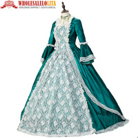 Marie Antoinette Colonial Masquerade Victorian Brocade Period Winter Holiday Dress Gown Theater Steampunk Costume