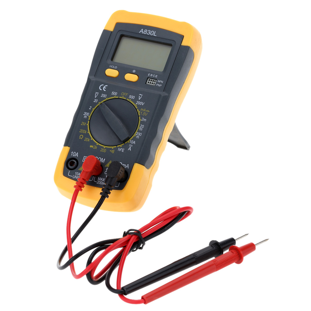Lcd Digital Multimeter Voltmeter Ammeter Ohmmeter Tester For Ac Dc Led Electrical Voltage Continuity Circuit Ebay Current Resistance Diode And Hfe Test