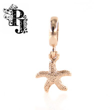 Endless Jewelry Charm Starfish Rose Gold Dangle Charm For Bracelet Endless SJSB1307