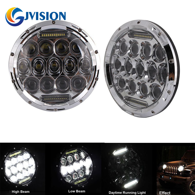 7 INCH LED Headlight 75W High Low Beam H4 to H13 Headlamp Daytime running lights for Jeep Wrangler JK TJ Lada Niva 4x4 4WD h4 plug 7 inch headlamp offroad 7 led headlight driving for jk wrangler defender 4x4 off road lada niva 4x4 suzuki samurai