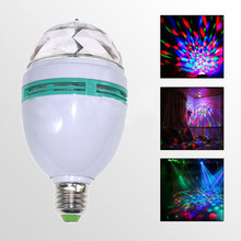 LED E27 Stage Lighting Effect Colors Rotating Mini Party Lamp Bulb 3W RGB Projection Stage Light FG