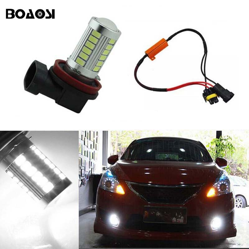 BOAOSI 1x 9006/HB4 LED Canbus Bulbs Reflector Mirror Design For Fog Light No Error For Lexus GS300 LS430 IS200 RX300 Old Regal boaosi 2x 9006 hb4 led canbus 2835smd bulbs reflector mirror design for fog lights for bmw e63 e64 e46 330ci car styling