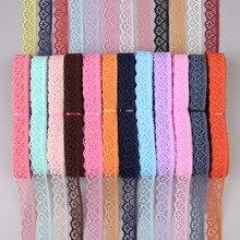 10 ярдов 14 мм широкая вышитая кружевная отделка Diy одежда свадебные Швейные аксессуары для художественного оформления кружевная лента для аппликации одежда ткань