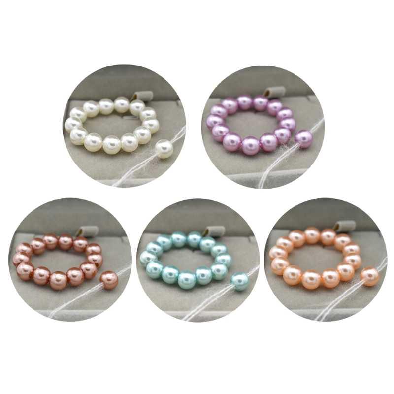 Newborn Photo Props Bracelet Headband Set Baby Glass Pearl Bracelet Shower Gift