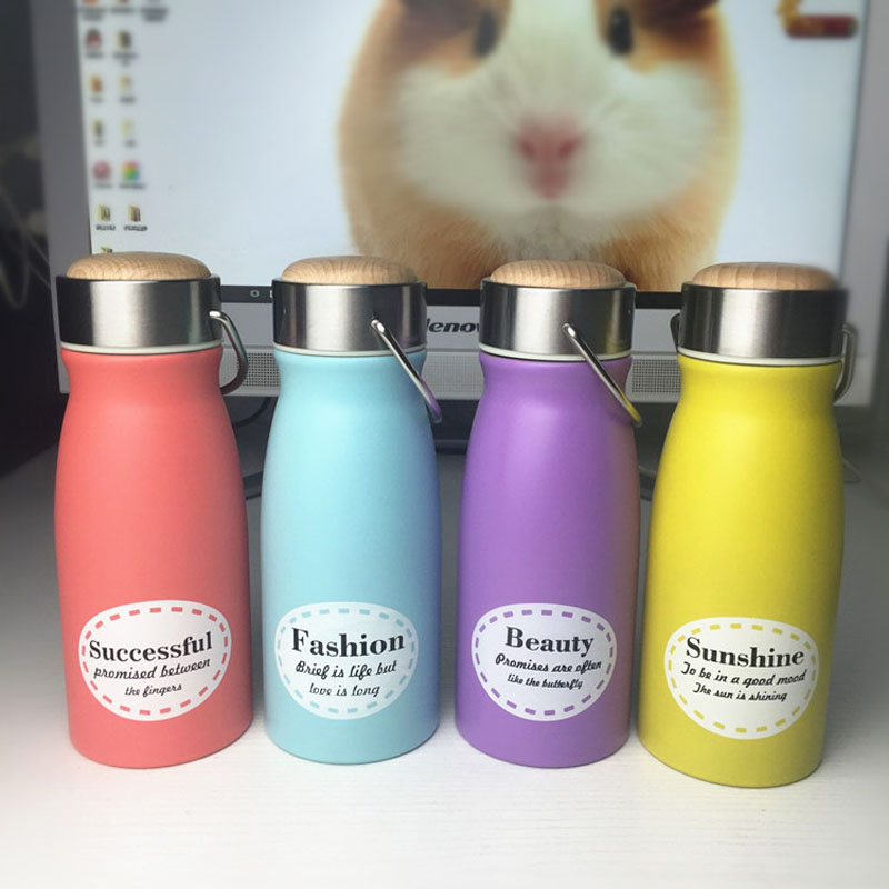 Cartoon Water Bottle Stainless Steel Thermo Vacuum Thermal Bottles 350ml Travel Drink Kids Funny Gift ZA3132