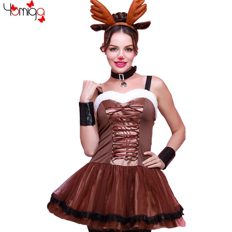 nias traje de navidad fancy dress animal reno fiesta temtica fantasias mujeres disfraces de halloween sexy