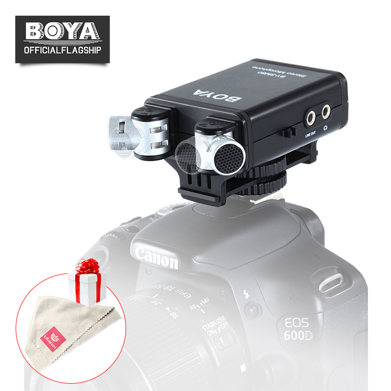 BOYA BY-SM80 Stereo Video Condenser Microphone with Windshield Two-Channel for Canon Nikon Sony DSLR Camera Microphone Camcorder boya by sm80 stereo video microphone with windshield for canon for nikon for sony dslr camera microphone camcorder