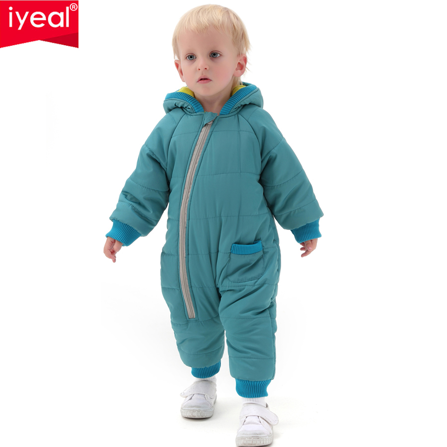 IYEAL High Quality Baby Rompers Winter Thick Cotton Boys Costume Girls Warm Clothes Kid Jumpsuit Children