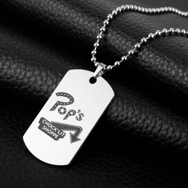 Naszyjnik Riverdale motyw filmowy biżuteria ze stali stalowy wisiorek naszyjniki mężczyźni damskie naszyjniki Choker naszyjniki z koraliki łańcuch naszyjnik charms